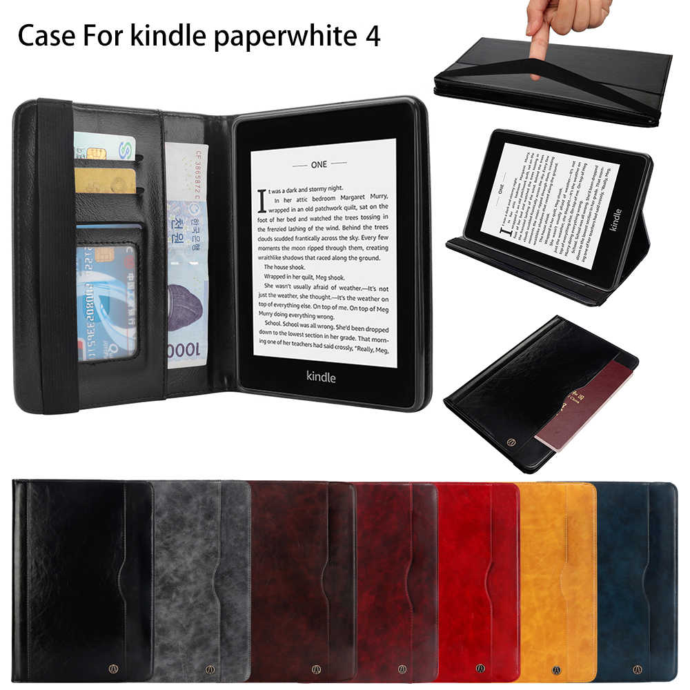 Etui z podstawką PU skórzany magnes Smart Funda Capa Shell pokrowiec Coque Case dla Kindle Paperwhite 4 2018 10th Generation Tablet