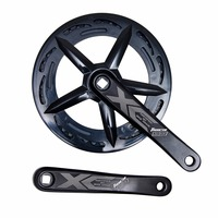 Road Bike Crankset 170MM 46T Chainring Bike Parts Single Speed 6/7/8 Speed Folding Bicycle Chainwheel Sprocket Crank Set