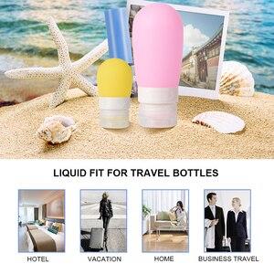 Image 4 - 1/2/3pcs Set 38ml 60ml 80ml di Vuoto Del Silicone Kit Da Viaggio di Imballaggio Presse Bottiglia per la Lozione Shampoo Bagno Piccoli Contenitori di Esempio