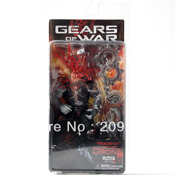 Classic Game Gears NECA Headshot Locust Drone War Action Figure 18cm Collection