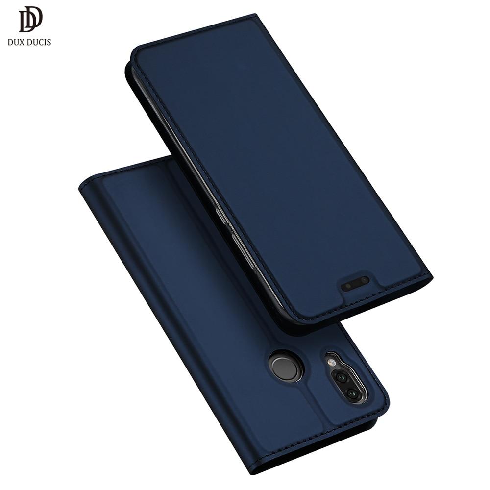 Huawei P20 Caso di Lite DUX DUCIS Cuoio di Vibrazione di Lusso Del Raccoglitore Della Copertura per Huawei P20 P 20 Lite Coque P20lite cassa del telefono Etui