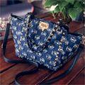 Moda Casual mujeres bolso de Las Mujeres pequeñas bolsas de hombro de la vendimia de mezclilla azul jeans crossbody bag ladies purse 2 colores bolsa feminina