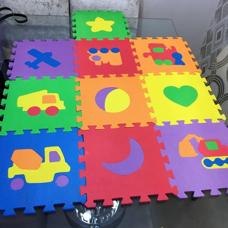 10pcs Cartoon Baby Floor Mat Foam Puzzle Mats Eva Floor