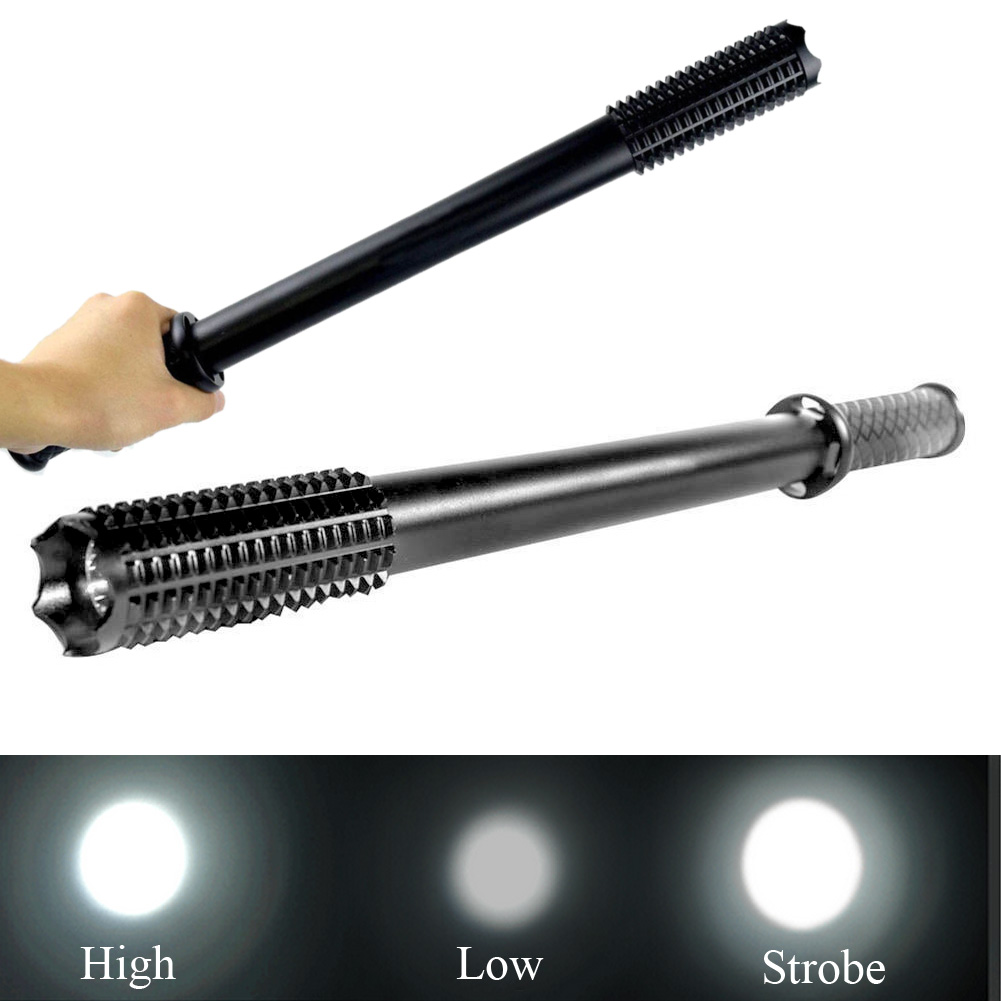 2000 Lumen LED CREE R2 Chips Flashlight Mace Baseball Bat Torch Long Lamp Security Flashlight Club Light Lamp 3 Modes