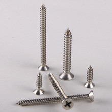 40PCS 304 Stainless Steel Countersunk Head Tapping Screws Countersunk Head Tapping Screw M3*12 GB846