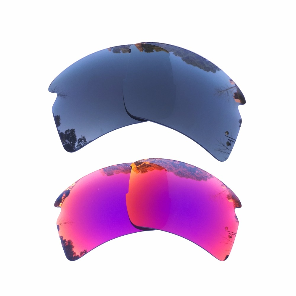84a9cb22dce Black   Midnight Sun Mirrored Polarized Replacement Lenses for Flak 2.0 XL  Frame 100% UVA