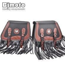 BJMOTO пара кистей мотоциклетные седельные сумки из искусственной кожи Сумка SWINGARM седло сумки боковой инструмент сумки для хранения для BWM Honda Yamaha