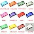 960 stks 1 Plastic Kleurrijke Voorgevormd Zijsluiting Voor Paracord Armband Halsband Harnas Rugzak Webbing 25.5mm