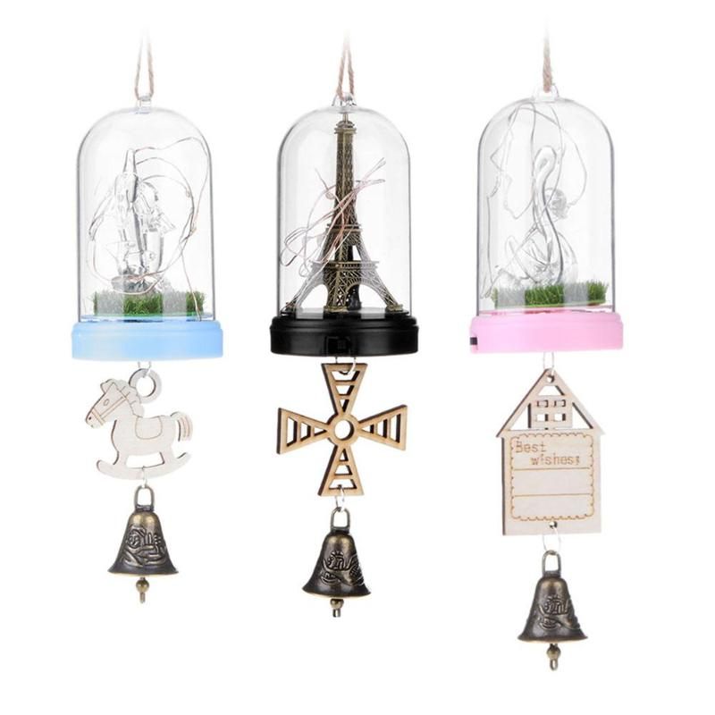 1pcs Small Led Night Lights Bell Lamp Creative Gifts Home Hanging Pendant Decor For Wedding Festival Atmosphere Christmas Lamps Lights & Lighting