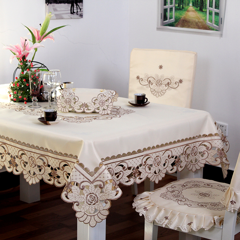 tablecloths and chair covers wheelchair office ty010 european pastoral tablecloth embroidered table cover for wedding decoration dustproof dining cloth