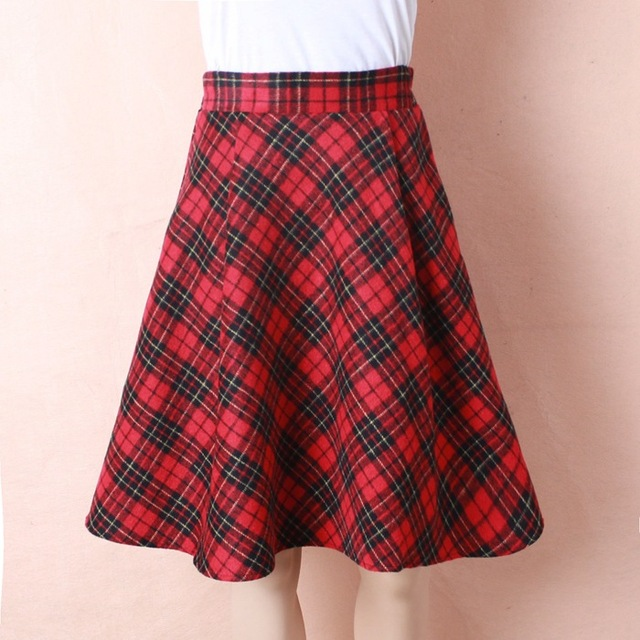 0bf14ce52 Womens Plus Size New Tartan Check Block Stretch Band Flared Skater Skirts