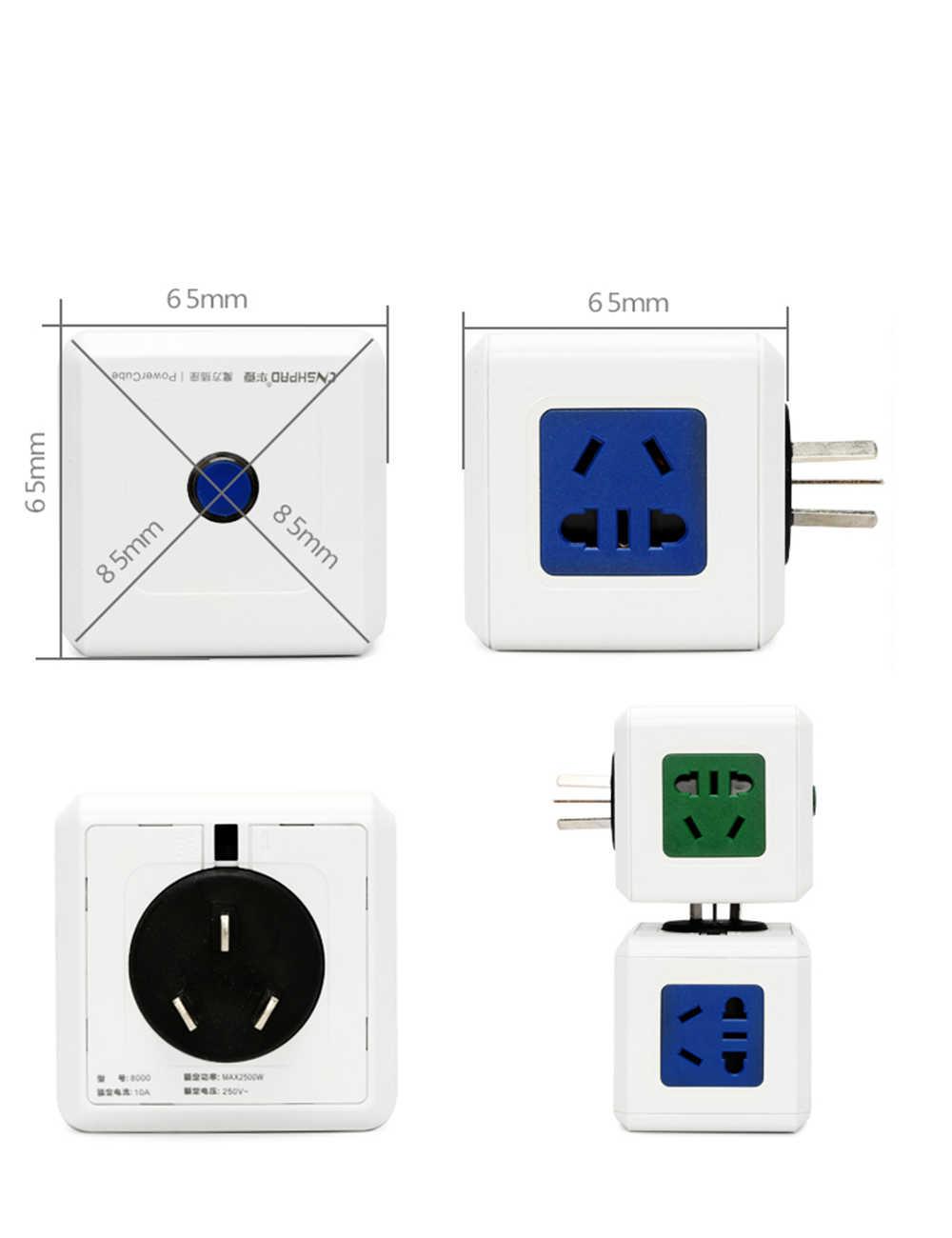 Wielo -- tryb kwadratowe kostki płyta okablowania kreatywny gniazdko wtyczki bezprzewodowy konwerter zasilania wtyczka