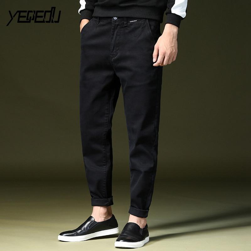#1435 2018 Spring Stretch denim Baggy Black Harem jeans men Loose Plus size jeans masculino Teens Streetwear jeans homme 28-42