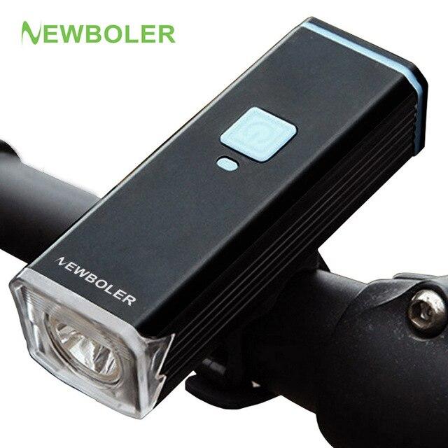 NEWBOLER USB Аккумуляторная Велосипед Свет T6 Передняя Руль Велоспорт Светодиодные Фонарик Факел Лампы Велосипед Аксессуары