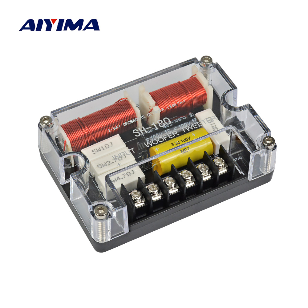 Aiyima Active Speakers Frequency Divider Filter Tweeter Subwoofer Loudspeaker System Crossover Network Speaker Protection Circuit Two Ways Treble Car Fever Aduio Board Diy For