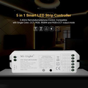Image 5 - Milight 2.4G Wireless 8 Zone FUT089 RF Remote B8 Wall mounted Touch Panel LS2 5in1 Smart LED Controller for RGB+CCT LED Strip