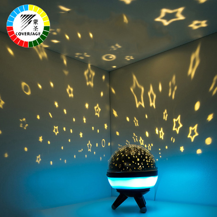 Coversage Rotating Night Light Projector Spin Starry Sky Star Master Children Kids Baby Sleep Romantic Led USB Lamp Projection led night light ocean wave projector starry sky aurora star light lamp luminaria baby nightlight gift battery powered led lights