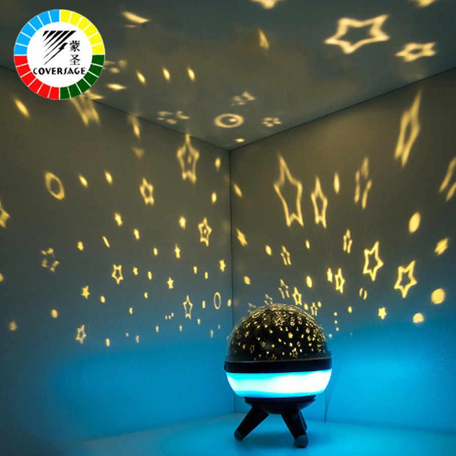 Coversage, вращающийся Ночной светильник, проектор, спин, звездное небо, Звездный мастер, для детей, для сна, романтическая Светодиодная лампа USB, проекция