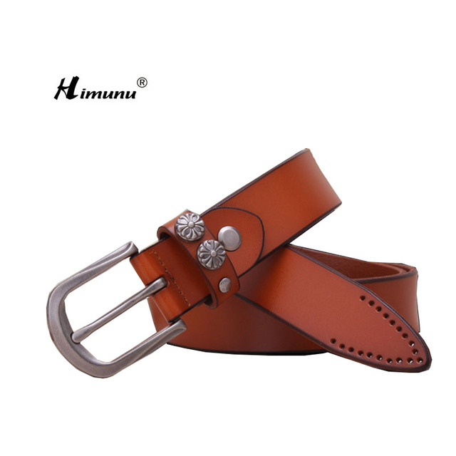 [Himunu]  Joker Palace Restoring Ancient  Ways Ms Belts  Pin Buckle Leather Jeans Decorative Leather Belt Woman 2016 New Fashion