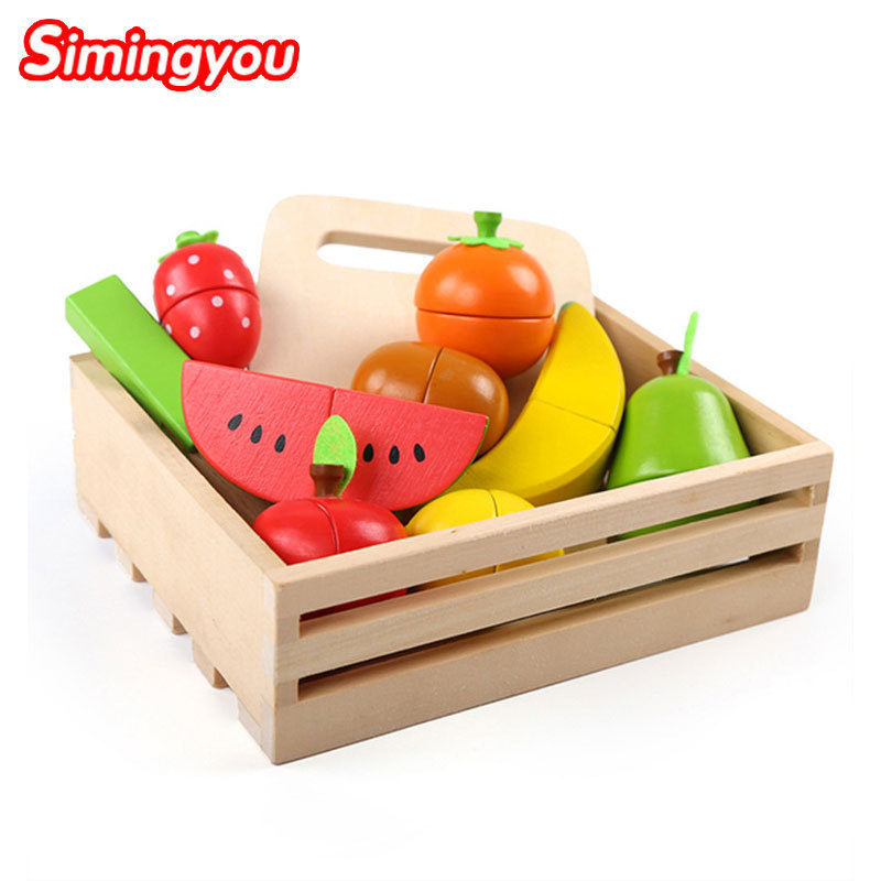 Simingyou Learning Education Wooden Toys Fruit Cut <font><b>Music</b></font> Boxed Montessori Educational Wooden Toys B40-A-98 Drop Shipping