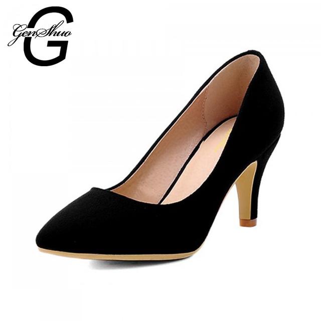 2017 Nuevo de Las Mujeres Elegantes Zapatos de Tacón Puntiagudos Zapatos de Tacón Alto mujeres Bombas Sandalias de Verano 6.5 cm de Tacón Alto Zapatos de Vestido de Partido