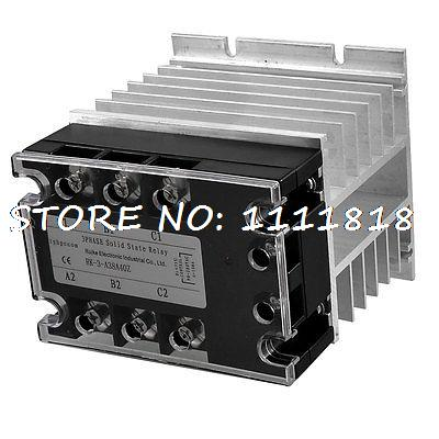цена на Control 90-280VAC Load 380VAC 40A SSR Solid State Relay + Aluminum Heat Sink