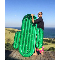 180cm 70inch Huge Inflatable Cactus Pool Float Inflatable Island Beach Air Mattress For Swimming Pool Water Sports Fun Toy