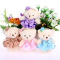 Для Рождественский Подарок НОВЫЙ 12 СМ 10 шт./лот pp хлопок малыш игрушки плюшевые куклы мини небольшого плюшевого мишку букеты медведь для свадьба