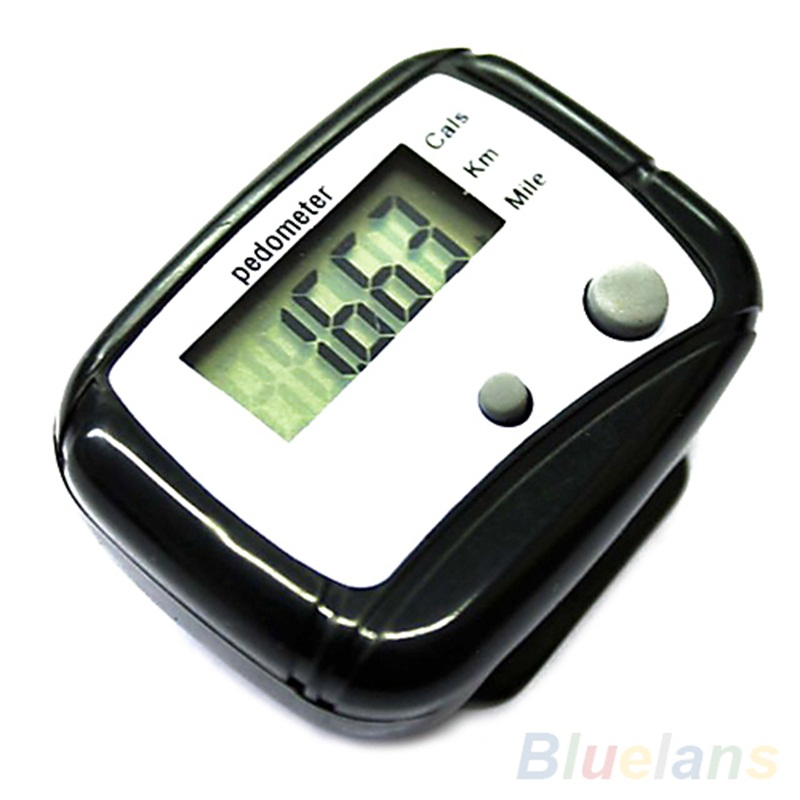 Healthy Sports Pedometers  New 1pc Black LCD Pedometer Step Calorie Counter Walking Distance Sport Pedometer 5W82