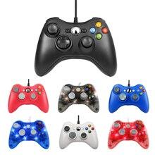 USB 유선 PC 게임 컨트롤러 Xbox360 콘솔 Joypad PC Windows 7 / 8 / 10 조이스틱 Controle Mando Gamepad