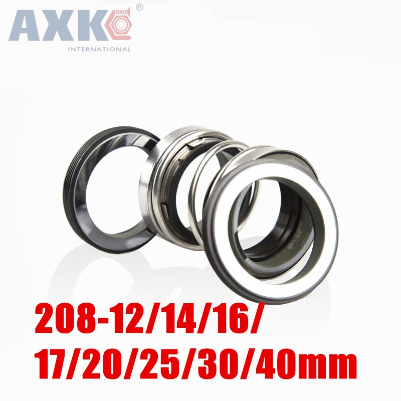 AXK 208-12/14/16/17/20/25/30/40mm Inner Diameter Single Coil Spring Bellows Mechanical Seal single coil spring 18mm inner diameter pump mechanical seal