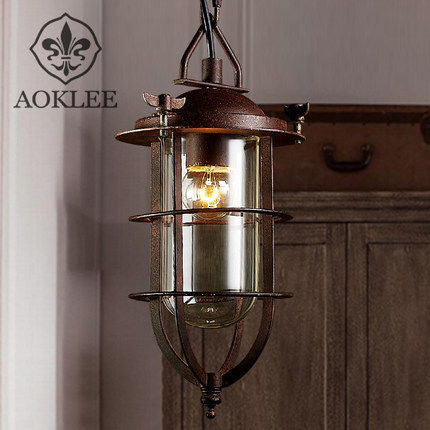 American Country Lighting Vintage Pendant Light Loft Edison Fixtures Style Cage Lampe Deco In Lights From