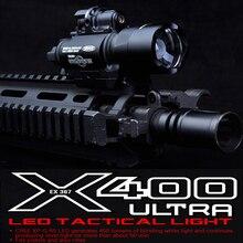 Элемент; SF; сезон осень-зима X400 CREE Ультра мощный светодиодный светильник пистолет M4 винтовка фонарик в красный горошек с лазером прицел 20 мм Пикатинни