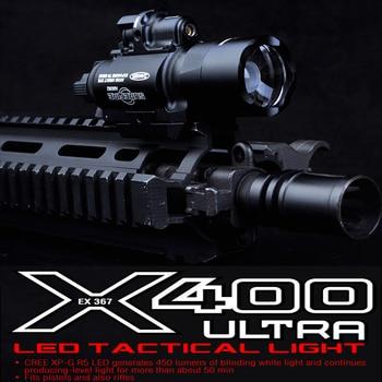 Element SF X400 CREE Ultra High Output LED Pistol M4 Rifle Flashlight Red Dot Laser Combo Sight 20mm Picatinny Rail Mount