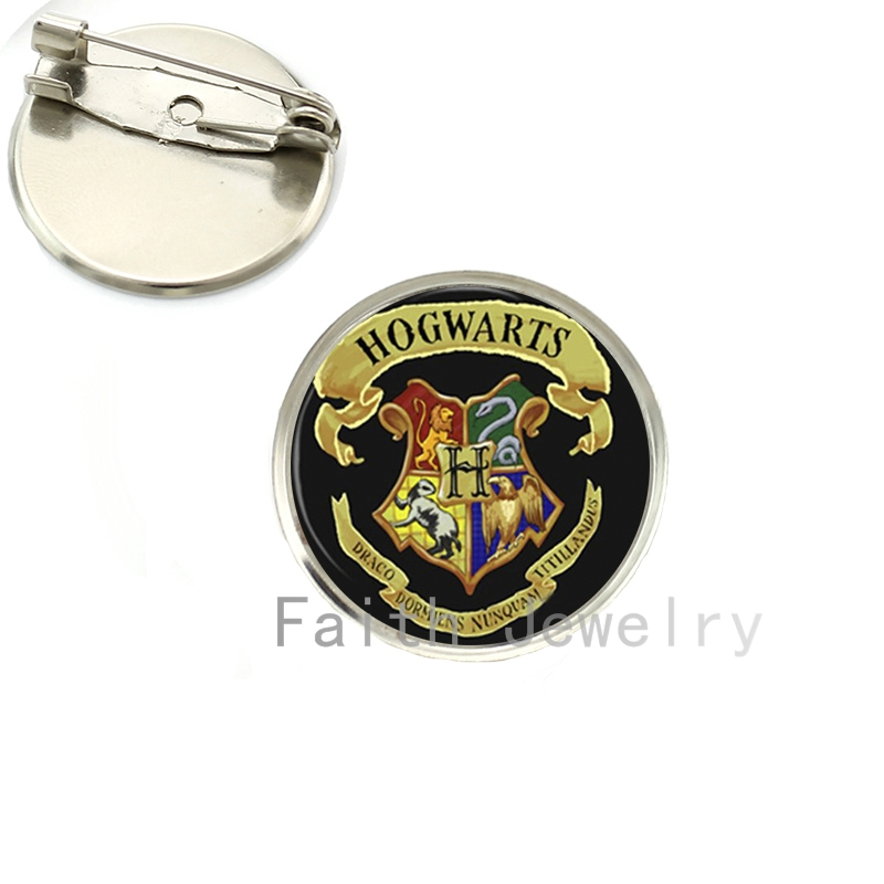 Hot sale Hogwarts Mag School case for Harry pot Logo Brooch pins Harrys Stag Patronus art pture brooches handmade NS064