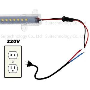 Image 5 - AC220V LED Tube Light LED Light Bar Strip Driverless SMD2835 Rigid Strip Energy Saving For Counter Light Showcase Light Source