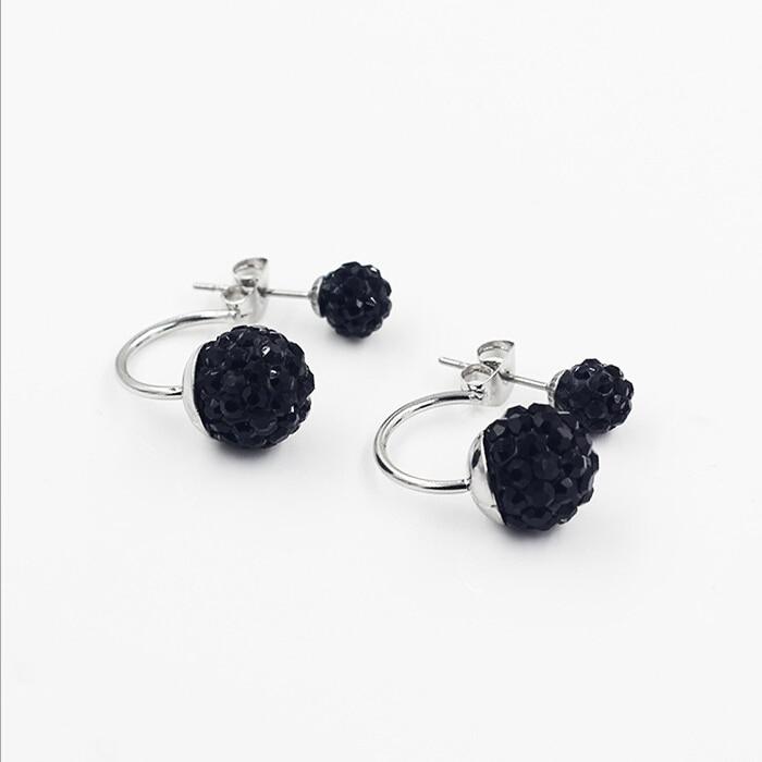 Gratis frakt 16 Färg Double Side Earring Fashion Brand Smycken Alloy - Märkessmycken - Foto 5