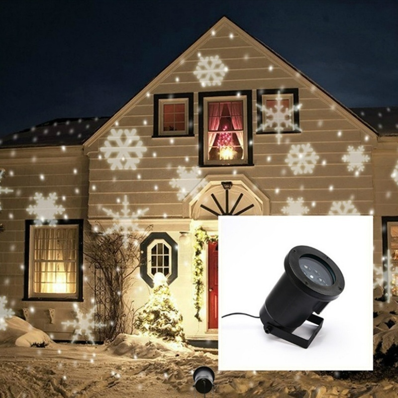 цена на Christmas Moving Snowflake LED Landscape Projector Light Waterproof Laser Lamp Outdoor Garden Xmas Decor