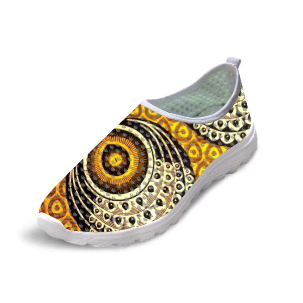 Casual Autumn Summer Mesh Shoes Men's 3D Animal Wolf Shoes Cool African traditional printed Printed Beach Water Shoes Slip-on feather printed round beach throw