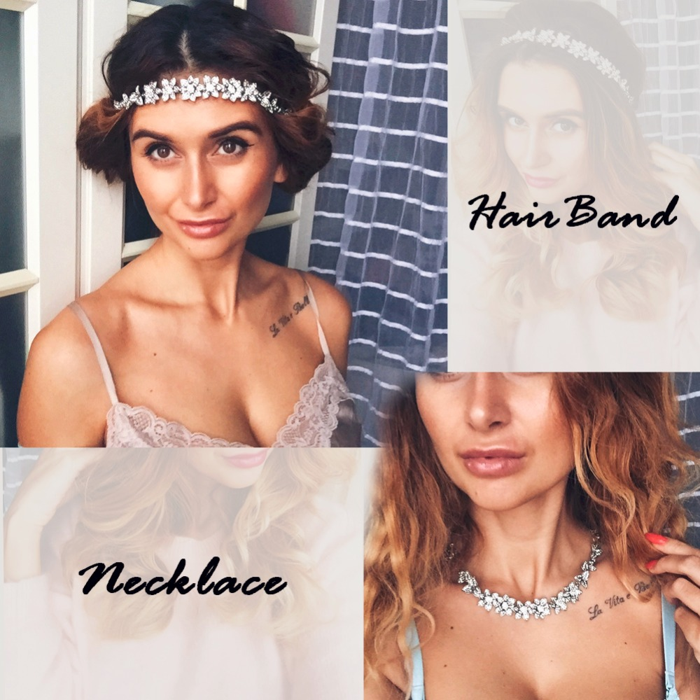 TRINKETSEA New Design Luxury Silver Color Flower Hair Bands For Women Girl Hair Accessories Vintage Hair Garland Headdress