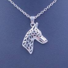2018 Doberman Necklace Dog Animal Pendant Gold Silver Plated Jewelry For Women Male Female Girls Ladies Kids Boys N023(China)