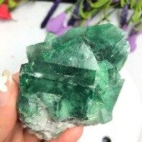 Natürliche fluorit  raw stein  quarz kristall  grob mineral probe  behandlung malachit hause dekoration