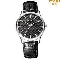 Luxury Simple Style Brand Quartz Watch EYKI Men Bracelet Watches Leather Clock Fahion Strap Lovers Wristwatch