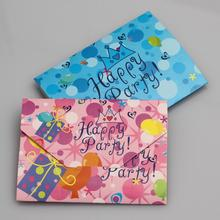 20pcs/pack Paper Birthday Invitation Children Cartoon Crown Happy Party Cards Kids Greeting Supplies