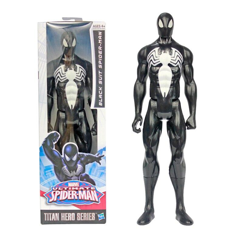 figurine spiderman black
