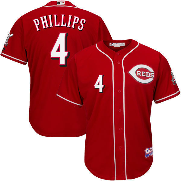 MLB Mens Cincinnati Reds Brandon Phillips Baseball Red Alternate 6300 Player Authentic Jersey