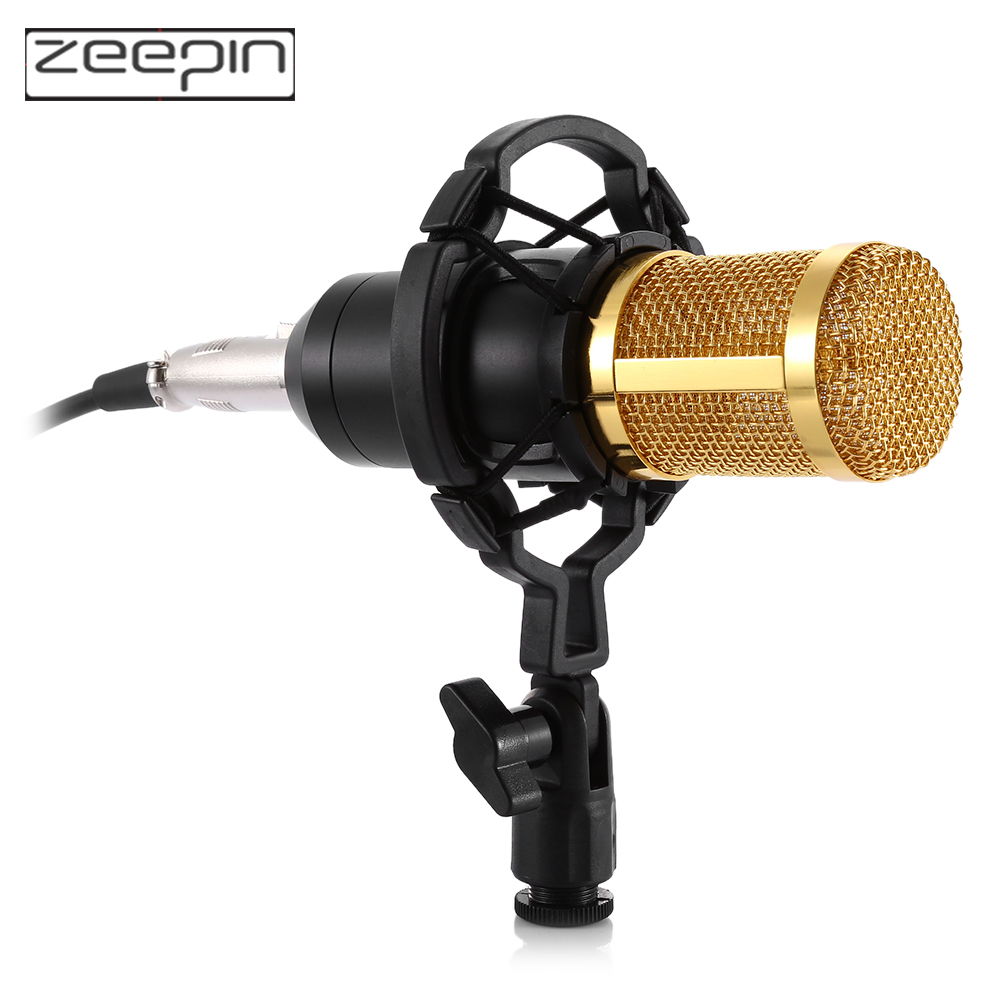 Professional BM 800 bm800 Studio Condenser Microphone Sound Recording Mic Amplifier Shock Mount Mic for phone karaoke Computer in Microphones from Consumer Electronics