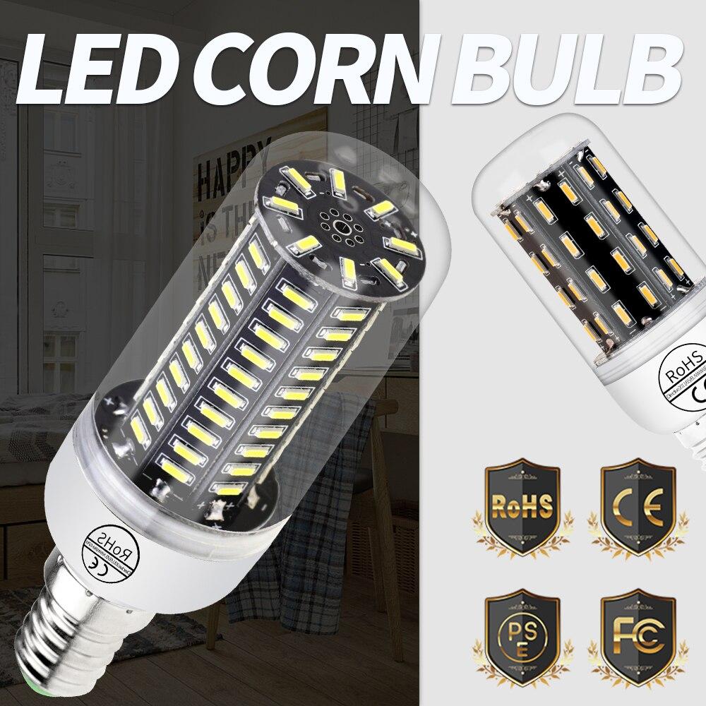 LED E27 Lamp Corn Bulb LED Energy saving Light Bulb 220V 38 55 78 88 140leds bombillas E14 Household 4014SMD Lighting Chandelier