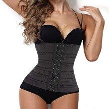 4 steel boned waist trainer corset workout slimmer body shaper waist cincher tummy fat burner girdles fajas fajas reductoras