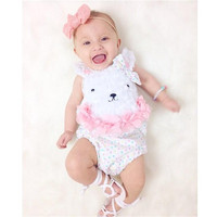 Happy Easter Bunny Baby Bodysuit Lovely Onesie Jumpsuit Romper For Newborns Cartoon Rabbit Baby Girl Clothes